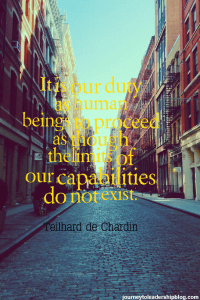 """It is our duty as human beings to proceed as though the"
