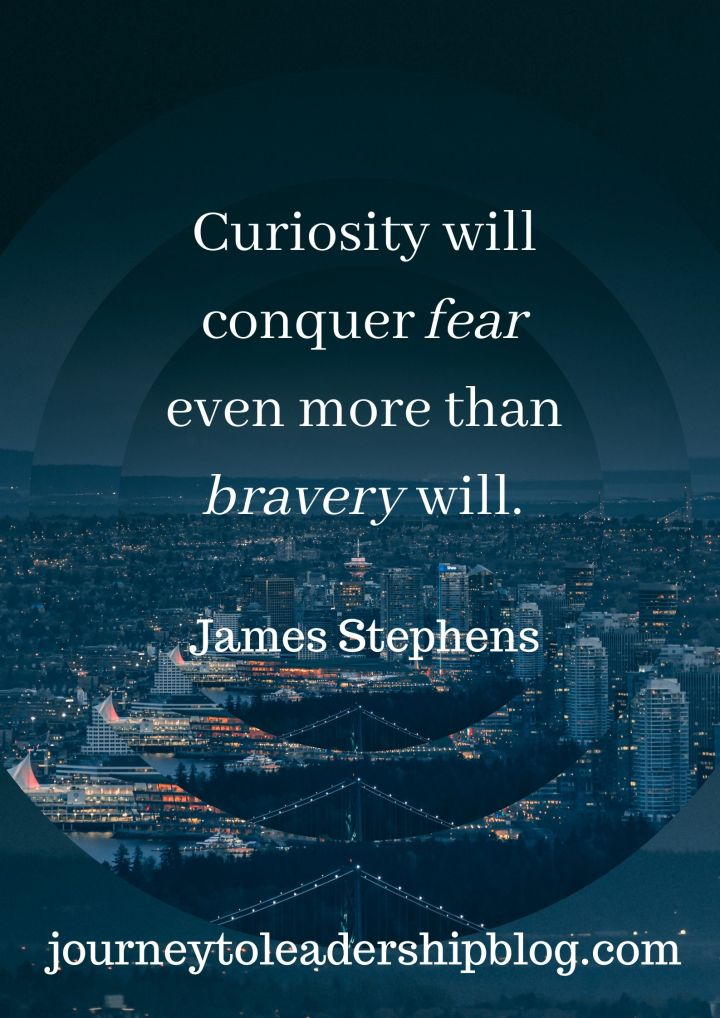 Quote Of The Week 118 Curiosity will conquer fear even more than bravery will.— James Stephens #quotes #quotestoliveby #quotesaboutlife #leadership #fear #overcomingfear