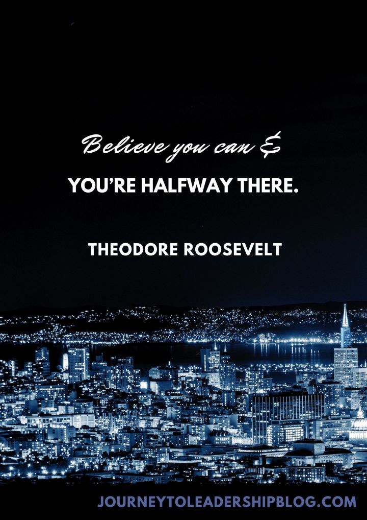 Quote Of The Week #200 Believe you can and you're halfway there.–Theodore Roosevelt #quote #quotes #quotesaboutsuccess #successquotes #goals #journeytoleadership https://journeytoleadershipblog.com