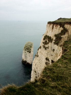 Old Harry Rocks from the cliff top