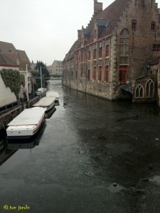 frozen canal bruges