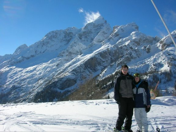 Skiing in the Dolomites Civetta