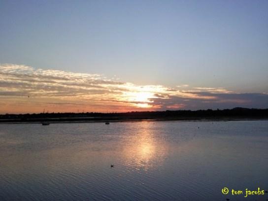 holes bay poole sunset