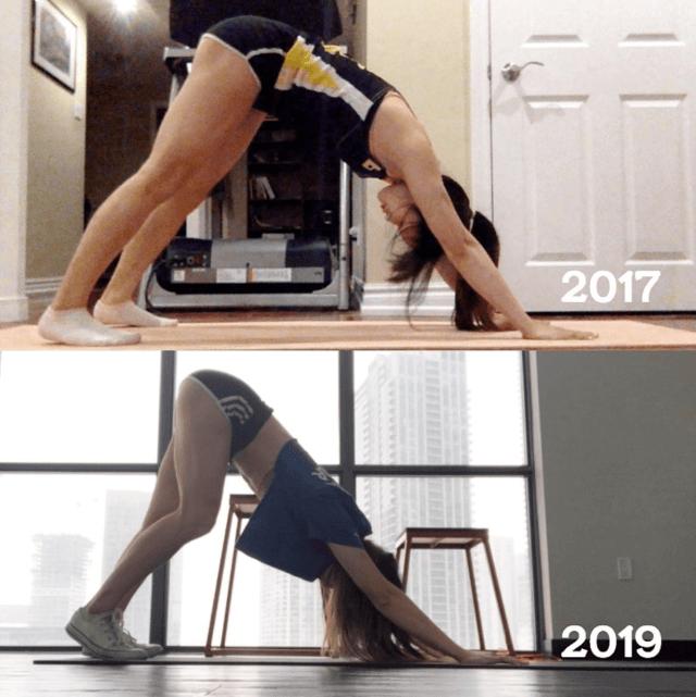 Downward facing dog progress