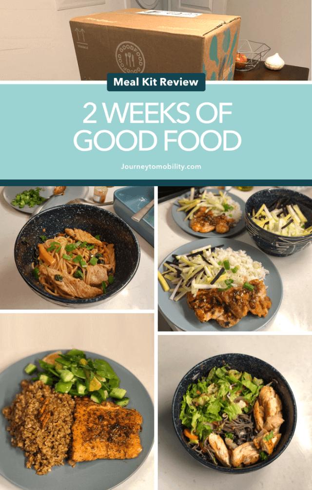 2 weeks of good food meal kit review pinterest image