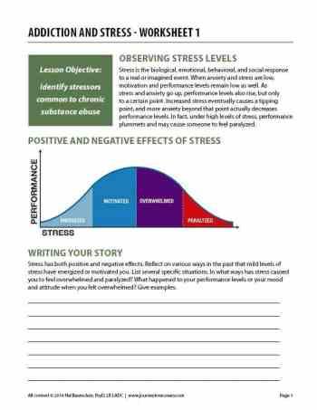 Addiction and Stress – Worksheet 1 (COD)
