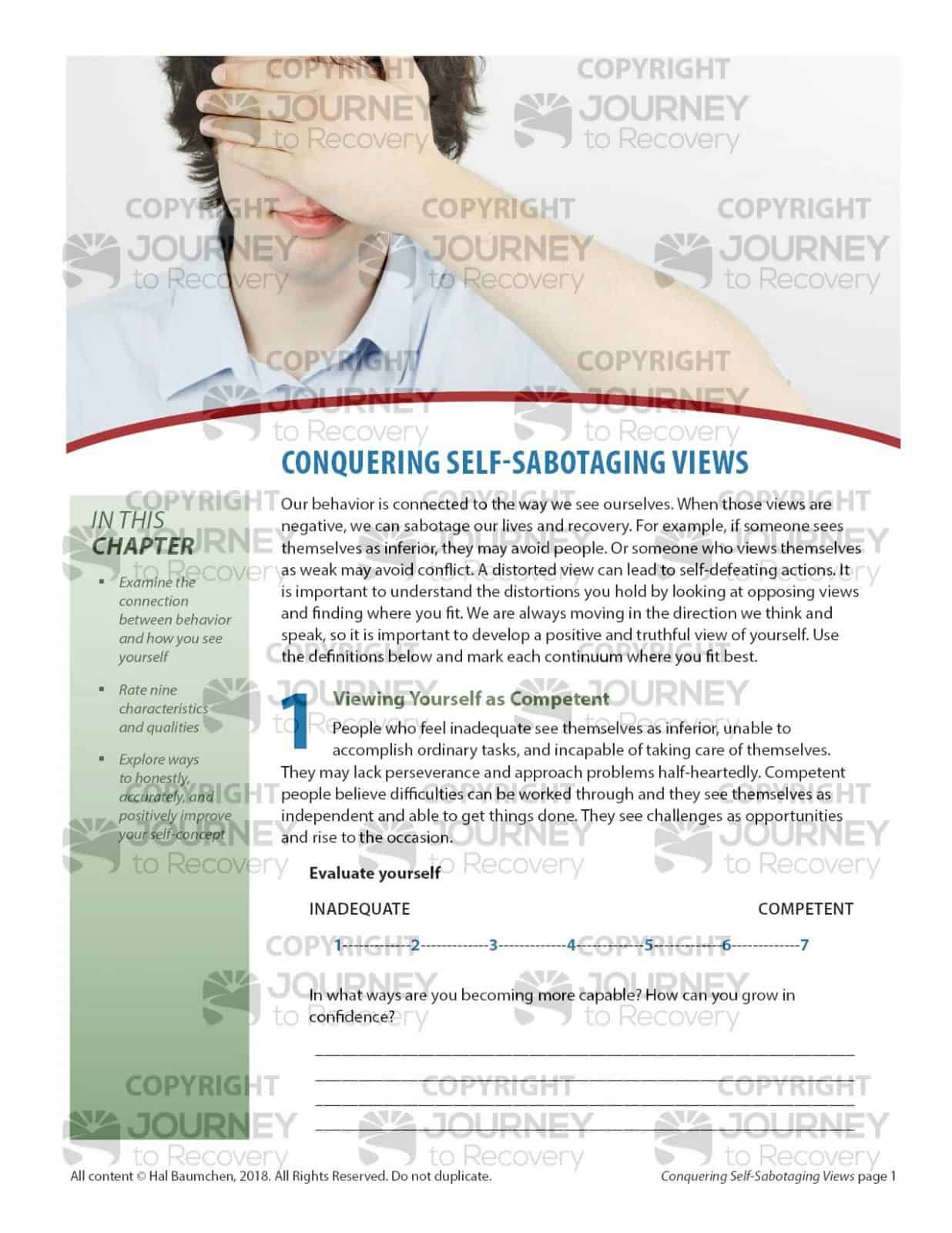 Self Sabotage Worksheet