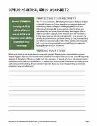 Developing Refusal Skills - Worksheet 2 (COD)
