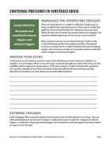 Emotional Pressures in Substance Abuse (COD Worksheet)