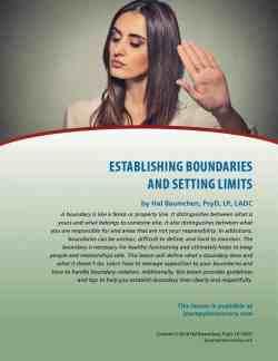 Establishing Boundaries and Setting Limits (COD Lesson)