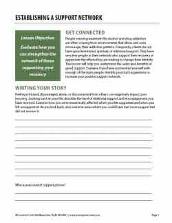 Establishing a Support Network (COD Worksheet)