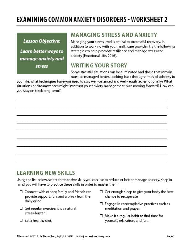 Co Occurring Disorders Topic Lessons Journey To Recovery