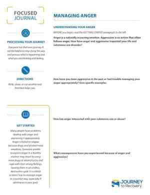 Managing Anger (COD Focused Journal)