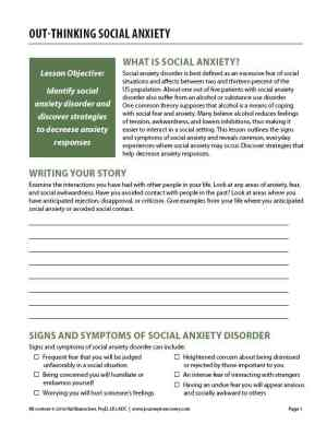 Out-Thinking Social Anxiety (COD Worksheet)