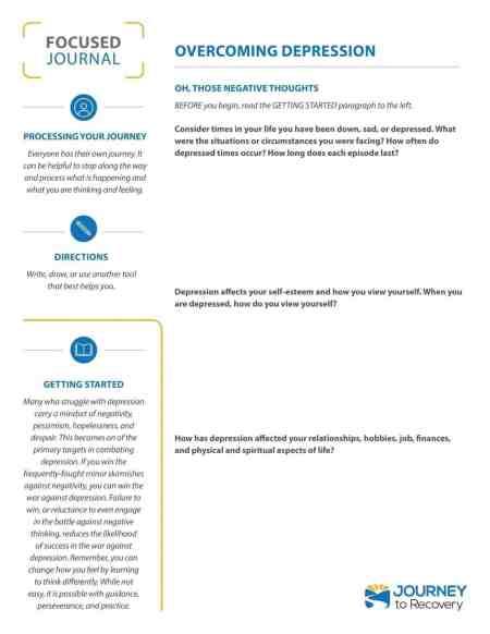 Overcoming Depression (COD Focused Journal)