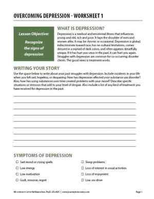 Overcoming Depression – Worksheet 1 (COD)