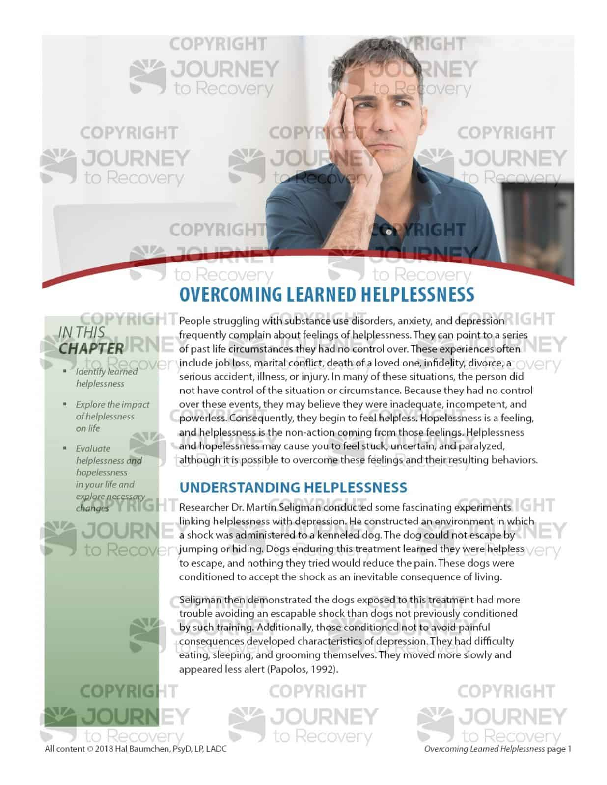 Overcoming Learned Helplessness Cod Lesson