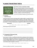 Planning Your Recovery – Part B (COD)