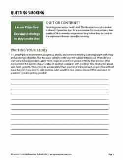 Quitting Smoking (COD Worksheet)