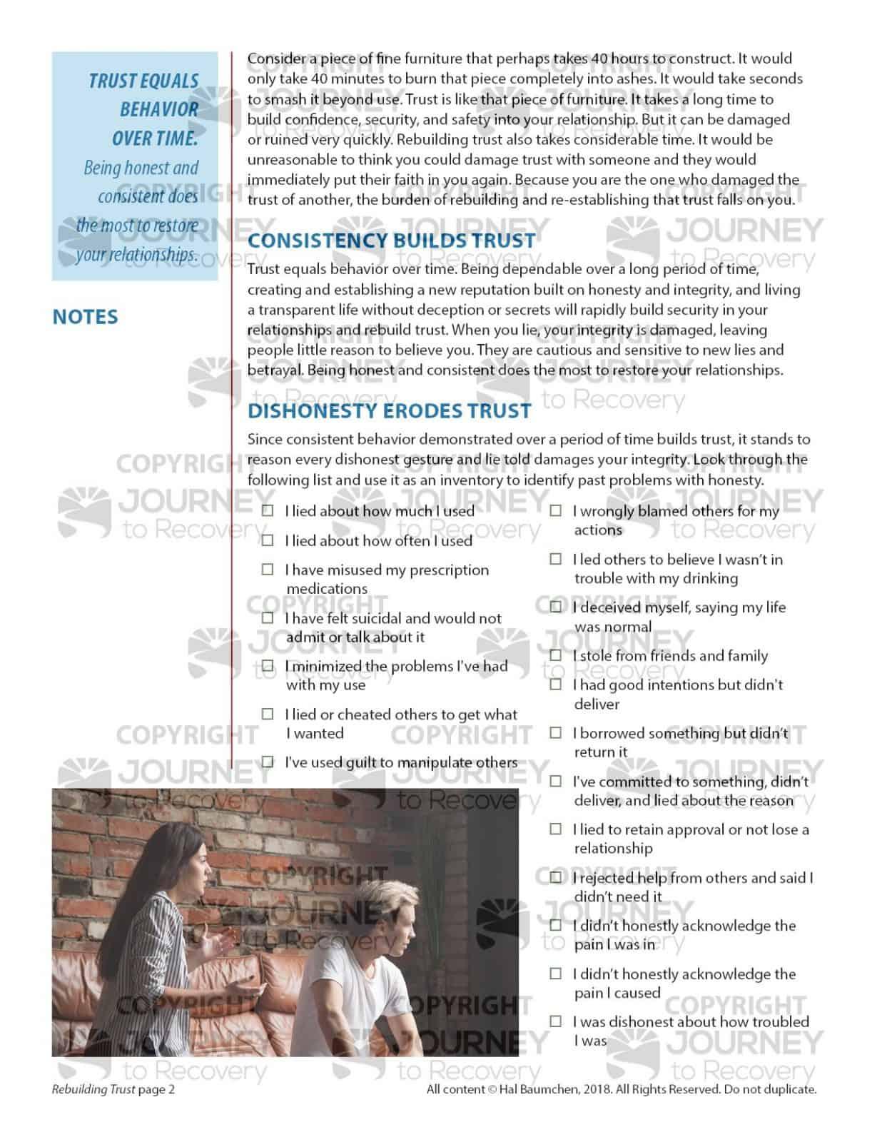 Rebuilding Trust Cod Lesson