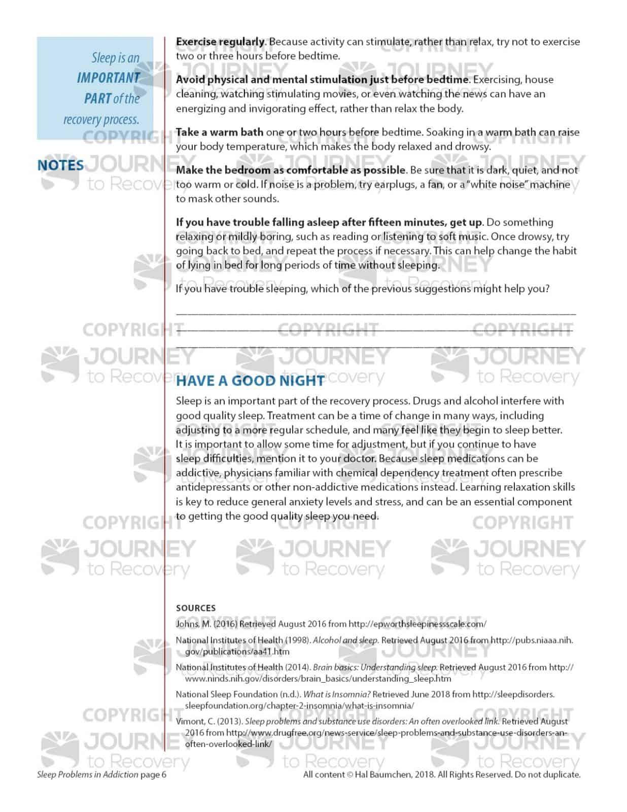Sleep Problems In Addiction Cod Lesson