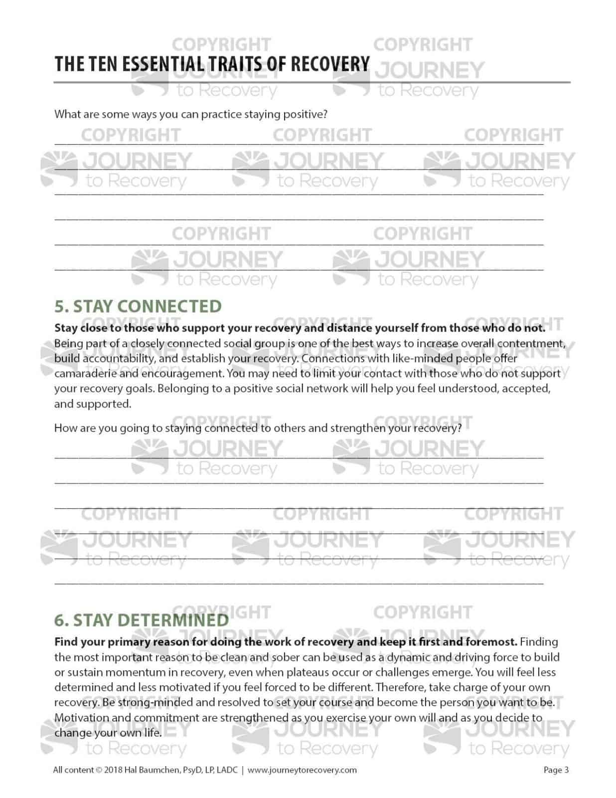 The Ten Essential Traits Of Recovery Cod Worksheet