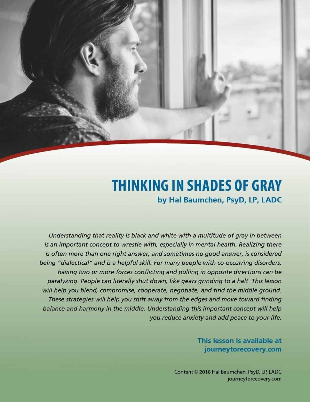 Thinking In Shades Of Gray Cod Lesson