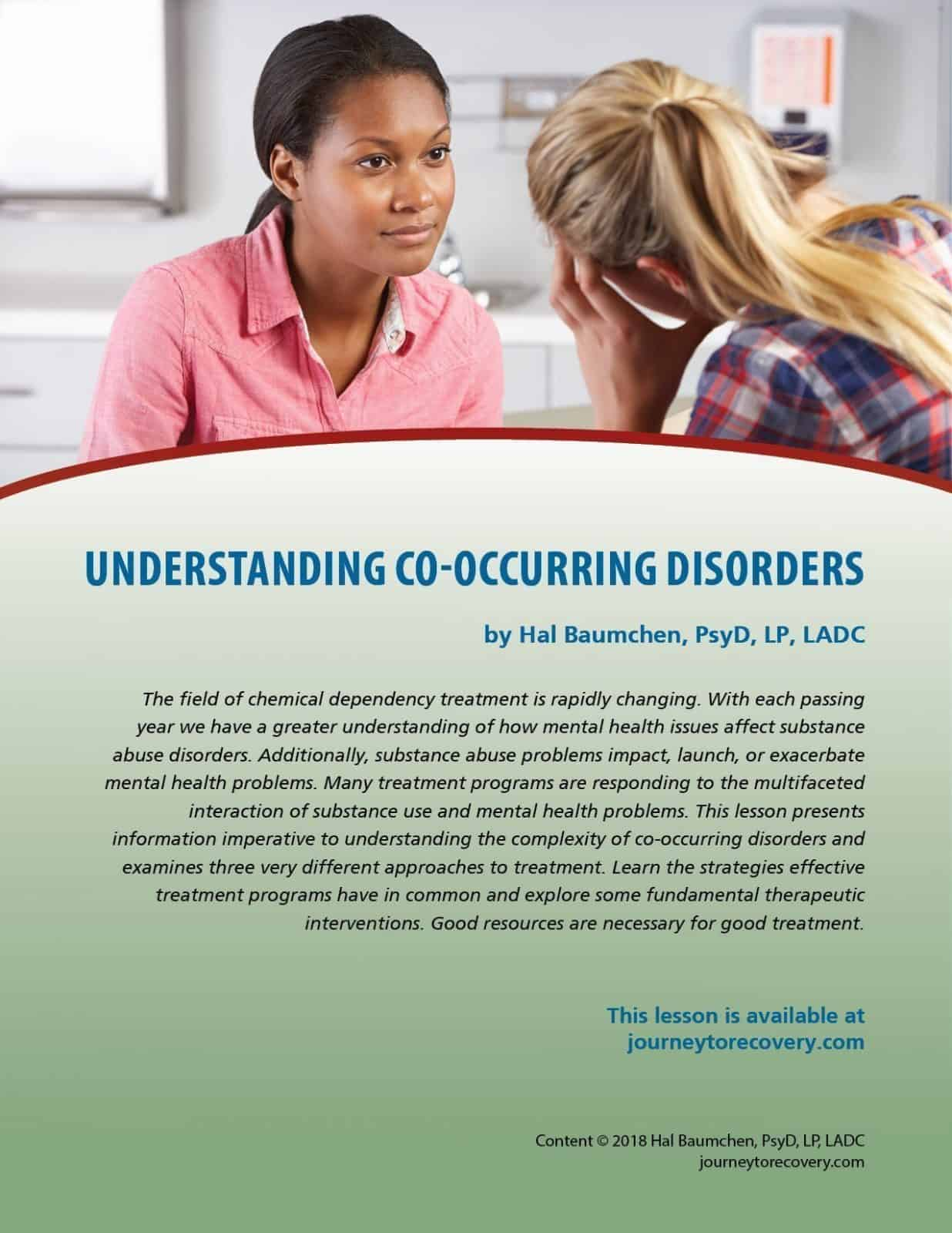 Understanding Co Occurring Disorders Cod Lesson