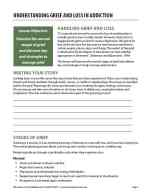 Understanding Grief and Loss in Addiction (COD Worksheet)