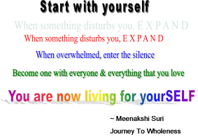 Start with yourself