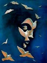 gaia face birds