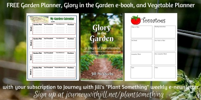 FREE Garden Planner, Glory in the Garden e-book, and Vegetable Planner