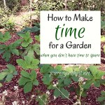 How to Make Time for a Garden