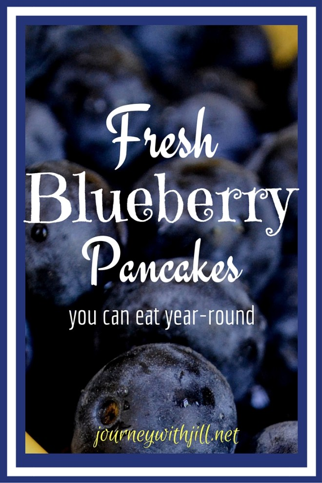 Fresh Blueberry Pancakes | Journey with Jill