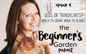 The Beginner's Garden Podcast Episode 4 | Seeds or Transplants? Which to Grow? When to Start?