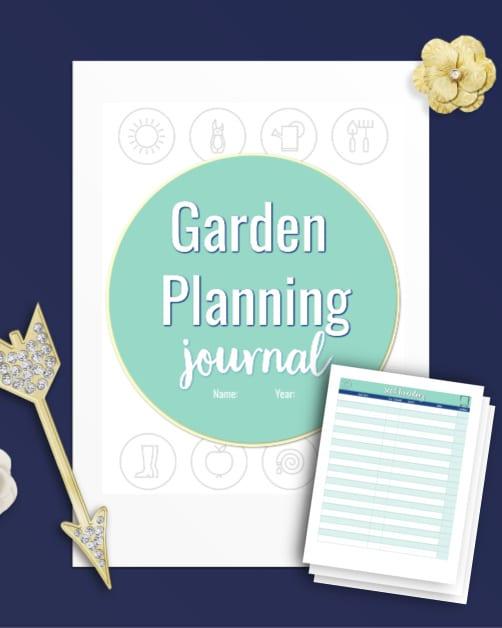 garden planning journal printable