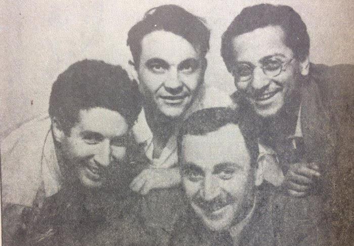 Limasollu Naci; şair Metin Eloğlu ve Kemal Bekir ile birlikte.