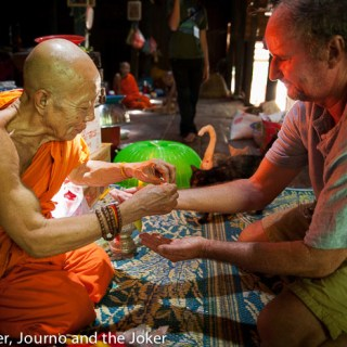Blessed by the monks in Siem Reap