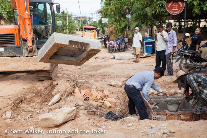 Roadworks, Cambodia