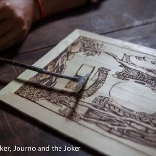 Cambodian artist's burning talent