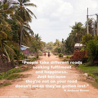 The road to happiness – quote