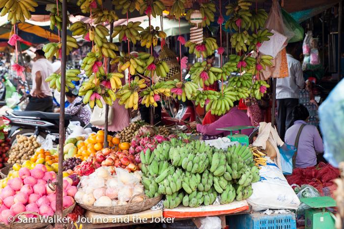 Phsar Leu fruit stall, Siem Reap