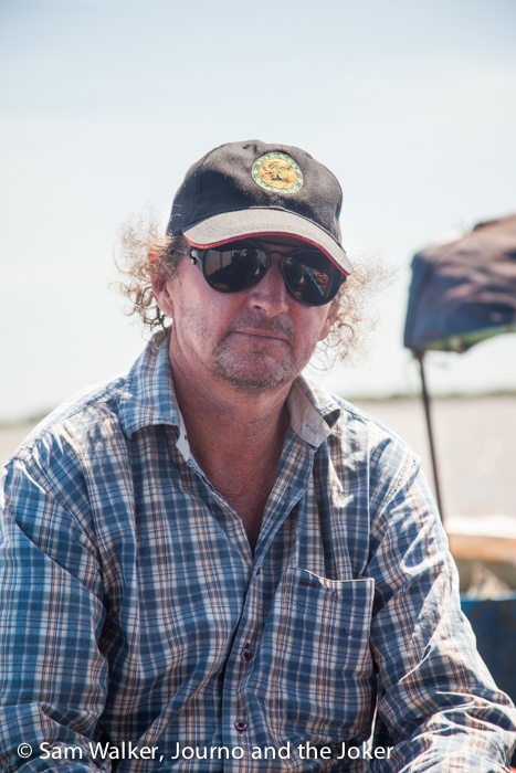 Steve on Lake Tonle Sap
