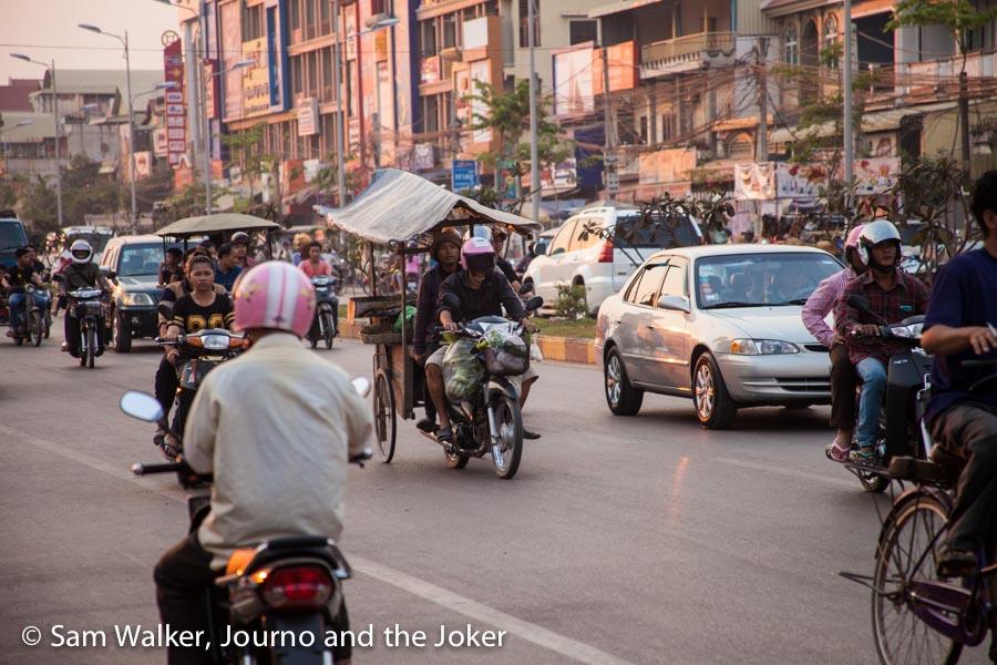 Traffic near Psar Leu, Road 6, Siem Reap