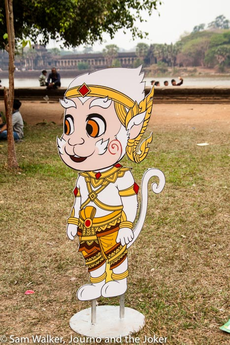 The monkey is the symbol of Angkor Sankranta, the Khmer New Year festival