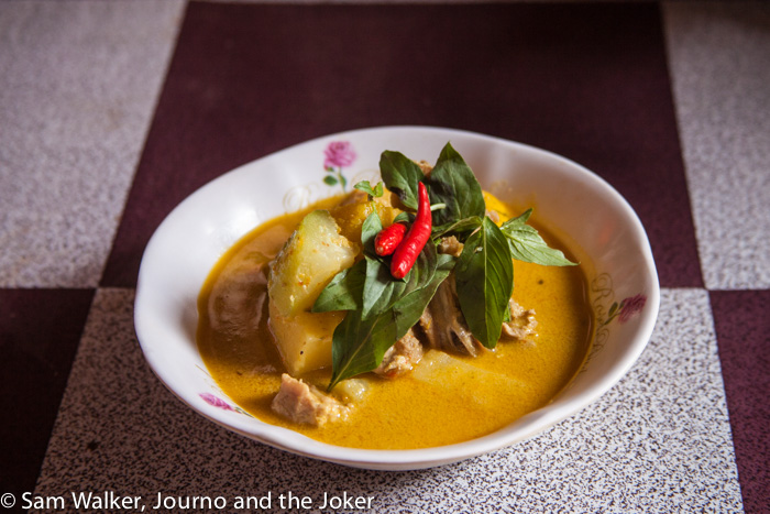 home cooked Khmer meal