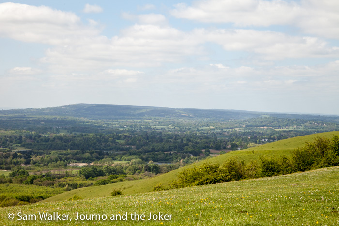 View from Colley Hill, Surrey, England