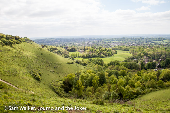 Views from Colley Hill, England