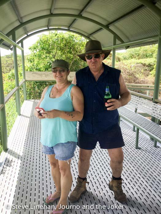 Jenny and Ian at Shady Camp