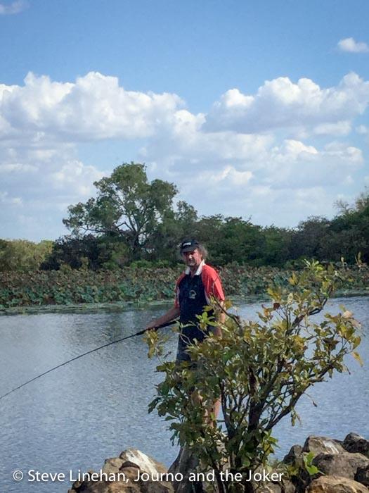 Fishing at Rockhole Billabong, Northern Territory